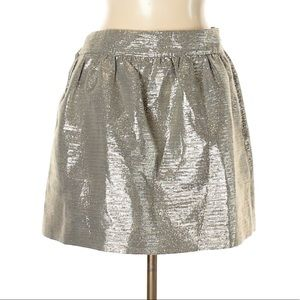 NEW Banana Republic Metallic Mini Skirt Size 6